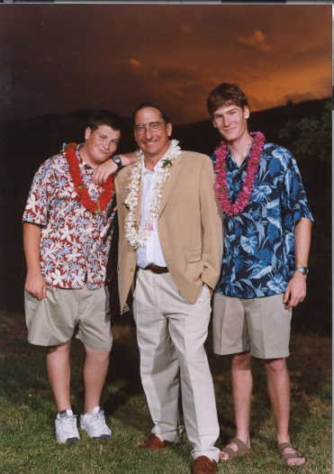 dads wedding, im on the right, dad in middle, and my brother chris on the right.