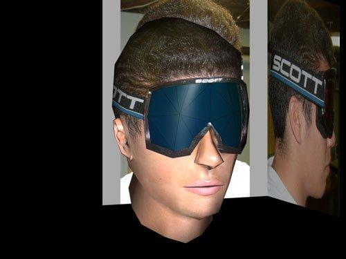 updated 3D skier's head