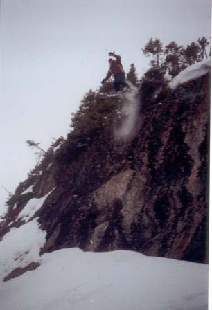 This is me droppin a cliff at louise..yup