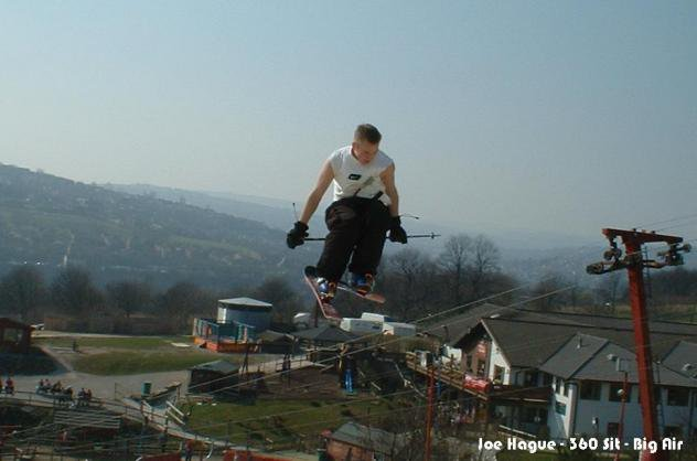 Joe Hague - 360 Sit (Yes he's sat ona pole in the air)
