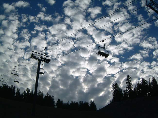trippy evening clouds
