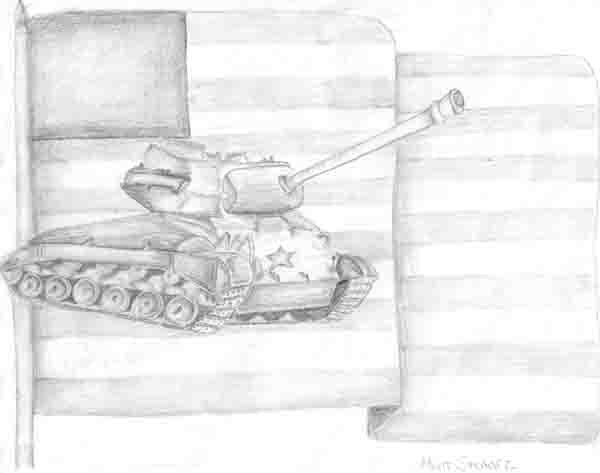 Sketch of a tank