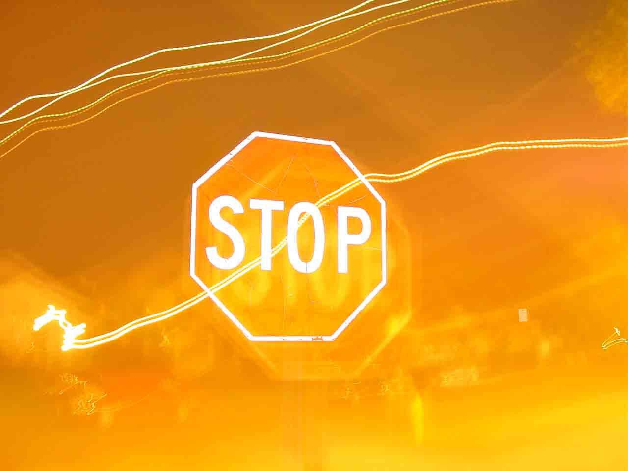 Stop again