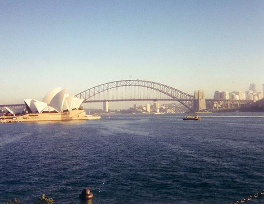Picture of Sydney Harbor I took when I was in Australia three summers ago.