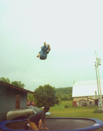 biggest ole' trampoline air