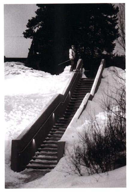 62ft double kink ledge, cheese grater stairs