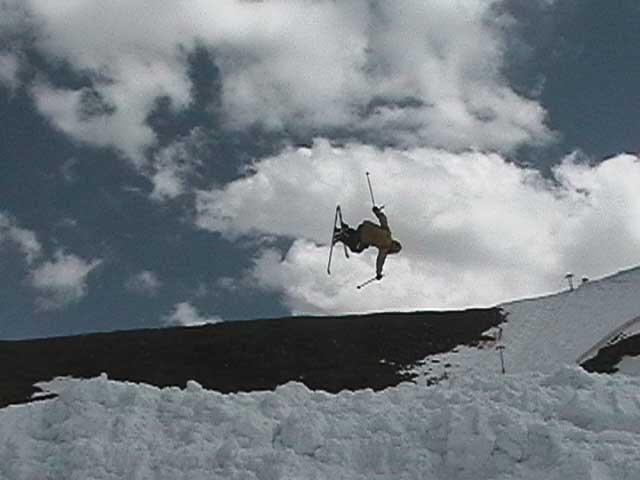 Misty 7 on mogul skis stomped in yo face