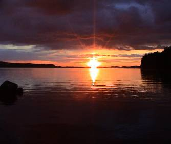 Nice sunset in finland.