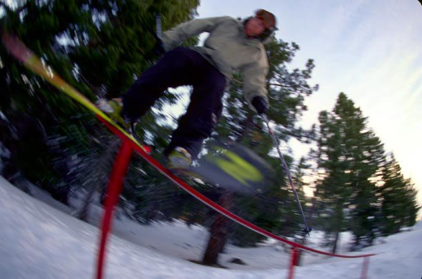 Max on the up bend rail (rescan)