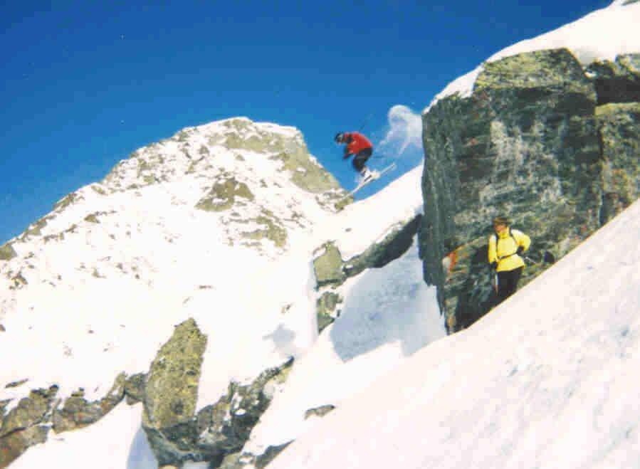 5 m. cliff drop