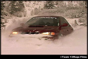 Just driving around, trying to get stuck.