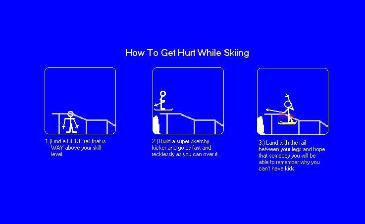 How to Get Hurt While Skiing