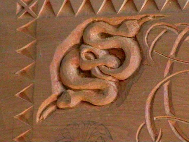 snake I carved -relief
