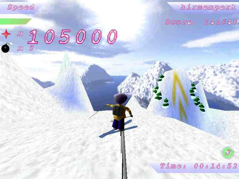 A little grind to 360 off on the new ski game I downloaded