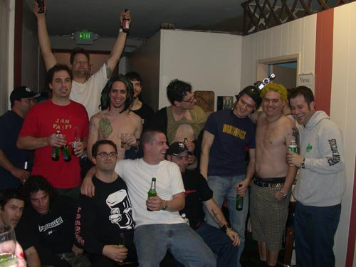 this would be a sick party: The Fat team at the 13th anniversary! Members of NOFX, Propagandhi, Stru