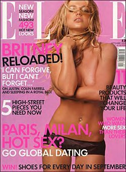 britney topless magazine cover
