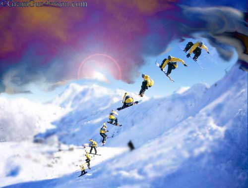 a different style of that snowboarder pic