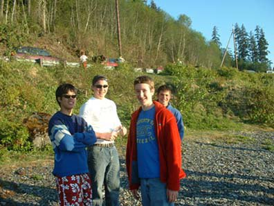 My friends and me at the beach (nathan, Tim, Me, Atlin)