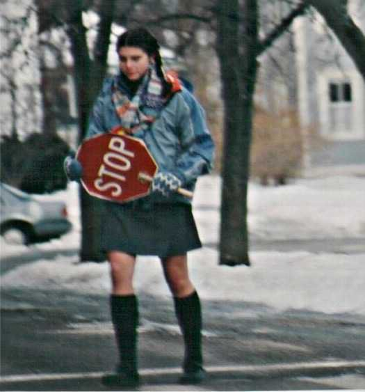 attack of the crossing guard private school girl!