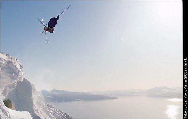 Terje N. Larsen flying high