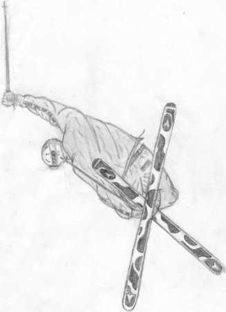 Fin Sketch of POWDERHOUND cover
