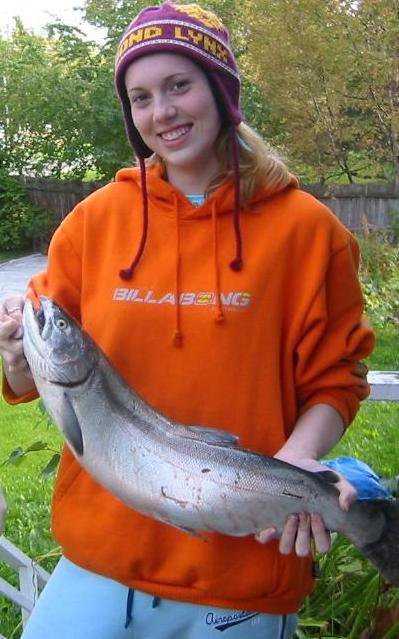 Nice silver I caught at the Placer River Overflow