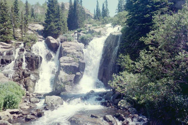 Waterfall on South Side of Lake Solitude