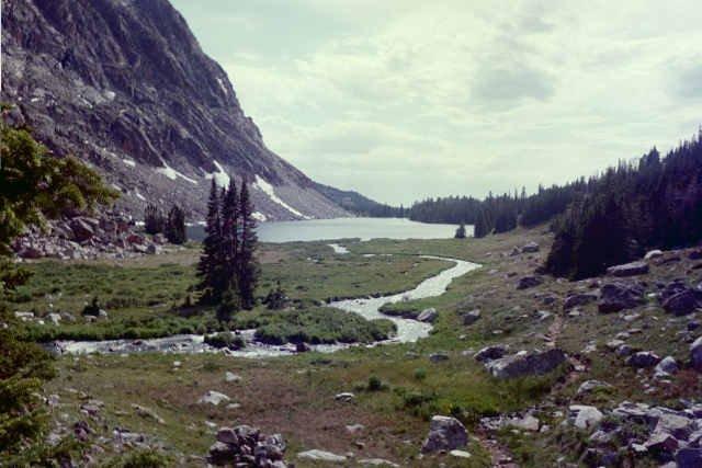Hiking back from Sheepherder and Lake Eunice
