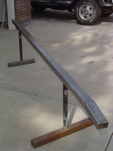 2 adjustable rails 123ski and I made