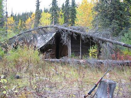 Old, abandoned cabin by Wells Creek we found while hunting