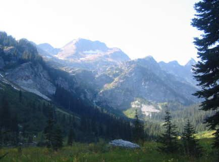 where ty and i camped while backpacking in the cascades.