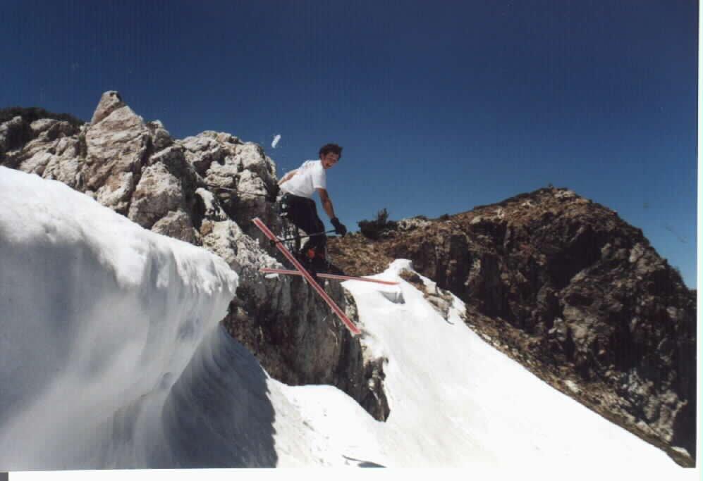 skiing in june is fun