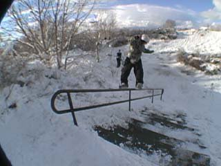 skiing is cool.  sick rail