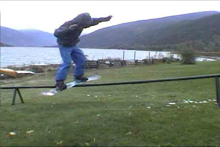 a low rail we set up in my yard... i took the picture off video.