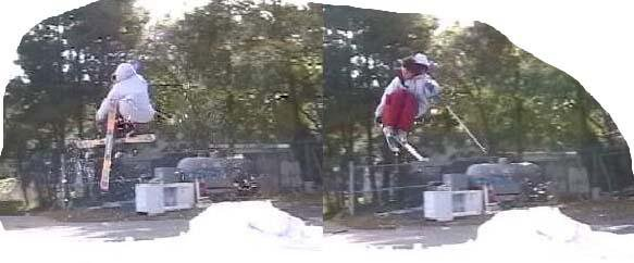 180s both ways from a small jump at our school