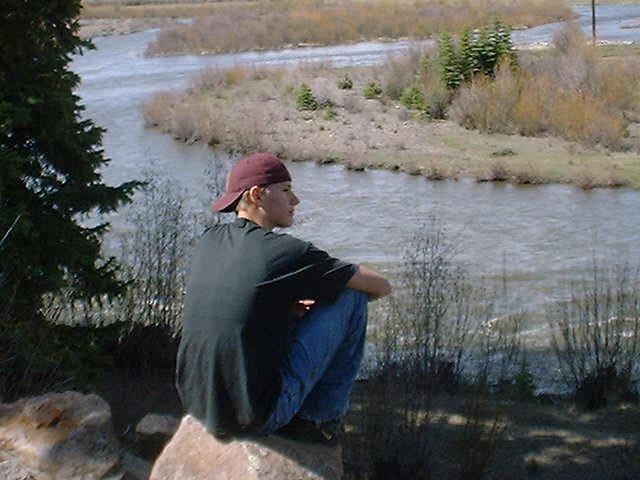 Dalton with the Rio Grande River