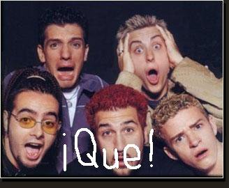 nsync says what! hahahahaha so funney!!!!  ya shutup.