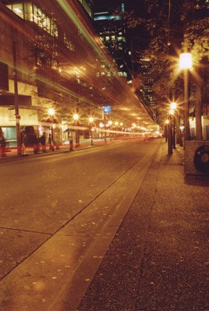 Time lapse downtown on Granville.