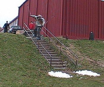 14 stair handrail - early season