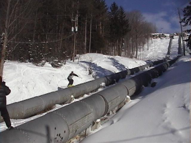 Biggest rail ever..........grinded from the top