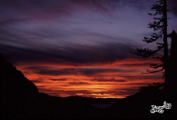 Sunset from Hurricane Ridge