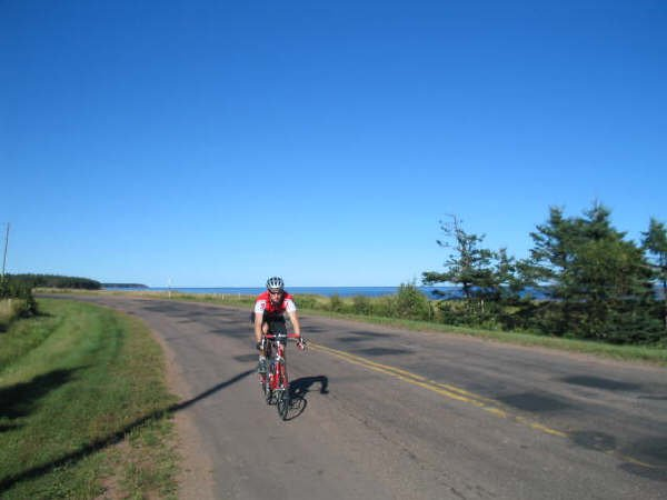 Road ride in PEI
