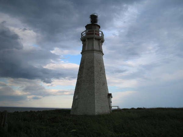 kinda cool shot abandoned lighthouse with storm rolling in