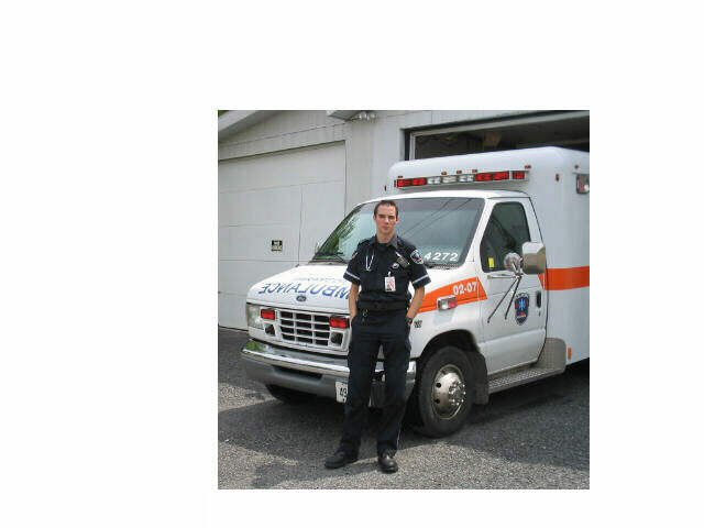 Medic with Cornwall EMS