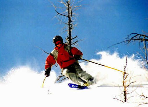 rippin the pow..winter '00..