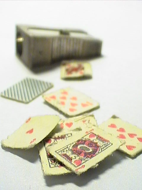 tiny playing cards...