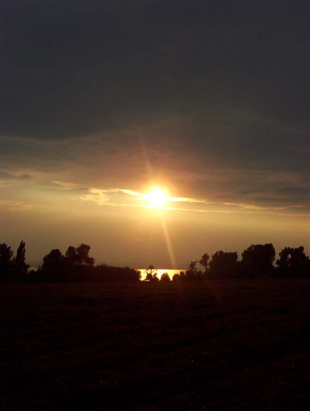 Strange, but Beautiful Sunset
