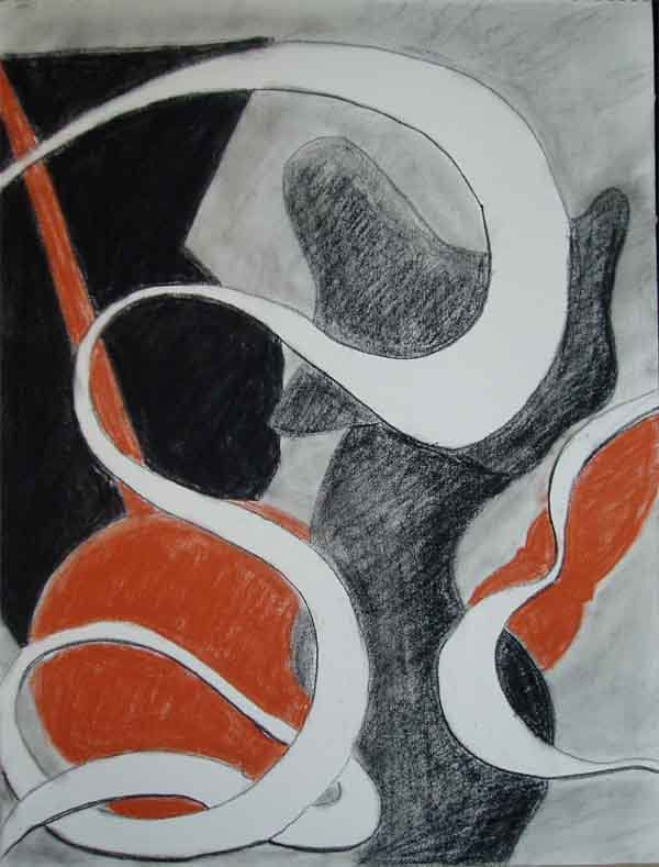 Abstract Drawing (Conte)