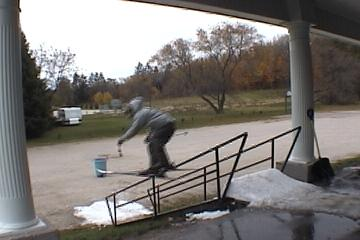 small rail we set up..bad quality (taken from video cam.)