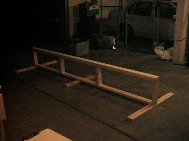 my beginner rail, 10' long, 1' high